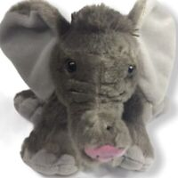 Wild Republic Gray Baby Elephant Stuffed Animal Plush Soft Beanbag Toy 8.5""