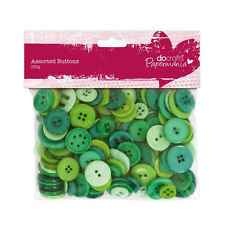 Craft  Buttons GREEN Large Assorted Plastic  250g  Papermania PMA 354307