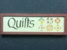 "Wooden Quilts Sign 4"" x 13"""