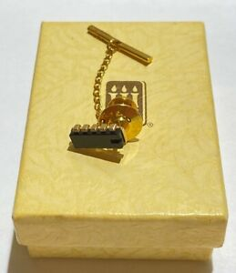 James Avery solid 14kt Yellow Gold H.I.C. Computer Chip Tie Tack c.1981