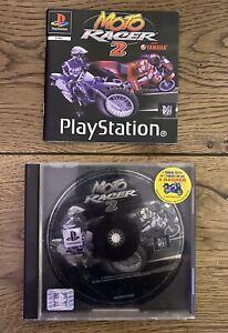 Ancien Jeu Playstation 1 PS1 - Moto Racer 2 - PAL - Test Ok