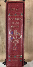 The Lord of the Rings JRR Tolkien 1974 Red Hardcover Collectors HMCO Ed w/ Map