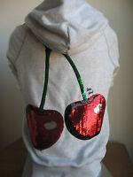 Victoria's Secret PINK VEGAS Zip Up  Hoodie Sweatshirt Cherry Sequins Bling NEW