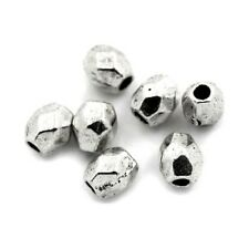 50 Intercalaires spacer _ OVALE FACETTES 4X3,5mm _ Perles apprêts bijoux _A428 g
