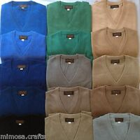 Nepalese Handmade 100% Pashmina Mens V-neck Cashmere Sweater Jumper Cardigan