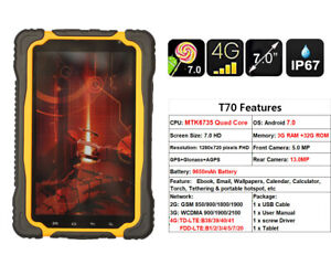 Rugged Tablet PC Computer 4G LTE Hugerock Android Quad Core Yellow T70 Outdoor