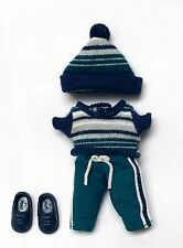 Kelly Tommy Doll Clothes Fashion Avenue Teal Blue Pants Hat Top Shoes Mattel