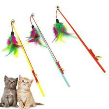 Play Interactive Fun  Cat Toy Teaser Wand Great Kitten Colorful Feather New