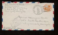 US APO 637 (HQ 8th Fighter Com, England) Censored Cover Aug 17, 1944 to Syracuse
