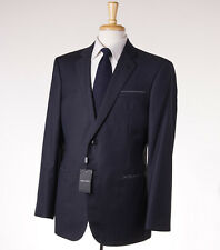 NWT $3995 GIORGIO ARMANI BLACK LABEL 'Wall Street' Super 150s Wool Suit 44 R