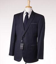 NWT $3995 GIORGIO ARMANI BLACK LABEL 'Wall Street' Super 150s Wool Suit 44 R