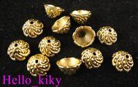 100pcs Antiqued gold plt swirl bead caps A535