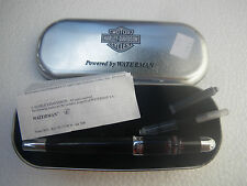 Genuine Harley Davidson Fountain Pen made from Waterman with leather case NOS