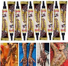 10x Golecha Henné Naturel tubes pour Mehendi Tatouage - Brun /