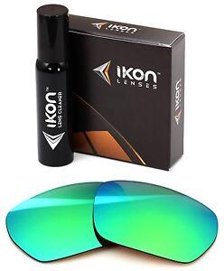 Polarized IKON Replacement Lenses For SPY Blok Sunglasses Green Mirror