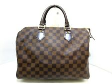 Auth LOUIS VUITTON Speedy 30 N41531 Ebene Damier AA0099 Handbag Damier Canvas