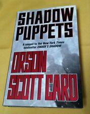 """Shadow Puppets"" Orson Scott Card Hardback 1st Ed. 2002 Spy Novel Thriller SIFI"