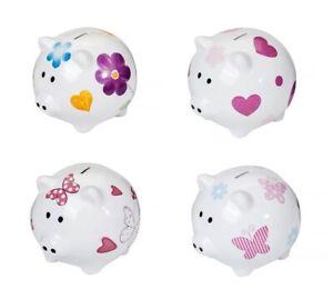Piggy Bank Large Big XL Ceramic Coin Money Saving Box Gift Girls Women Kids Baby
