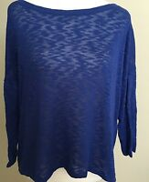 Love & let love womens long sleeve shirt top casual blouse size XL blue