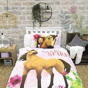Official Spirt Single Duvet Cover Lucky Horse Design Reversible Bedding Set