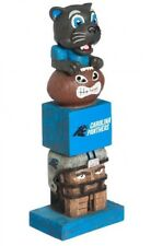 Carolina Panthers Tiki Tiki Totem Statue Figurine NFL Football Mascot Sir Purr