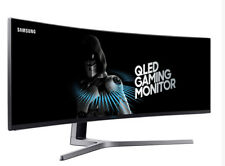 "SAMSUNG C49HG90 49"" QLED Quantum Dot 144Hz HDR 32:9 Curved Gaming Monitor"