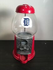 Carousel Gumball Bank Vending Machine Metal Glass Baseball Detroit Tigers MLB