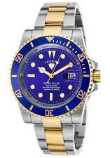 Legend Deep Blue Gold Silver Mens Watch LD-1002-SG-33