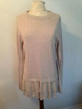 LAUREN CONRAD Beige Cotton Blend Womens Long Sleeve Long Sweater Size L