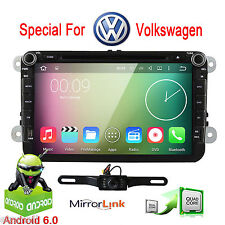 "GPS Navi 8"" Android6.0 Car Stereo CD DVD Player Radio WiFi 4G For VW Passat Golf"