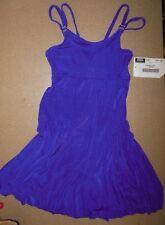 NWT Empire line Plum Dance Skate dress full leotard under Ladies Petite slinky