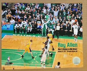 Ray Allen Boston Celtics Most 3 Pointers Glossy 8 X 10 Photo DM1