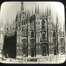 Vtg Keystone Magic Lantern Glass Slide Milan Cathedral Italy Trolly Horse Cart