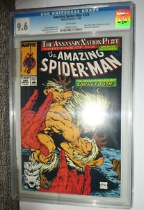 Marvel comics Amazing Spiderman 9.6 CGC 324  White pages Sabretooth appearance