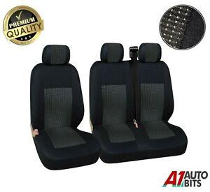 2+1 Black Premium Fabric Seat Covers For Mercedes Vito Sprinter Viano New