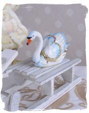 Pillendose Schwan Figur Schmuckdose Deckeldose Faberge Figur