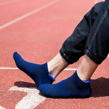 Blue Low Cut No Show Ankle Cotton Athletic Cushion Sport Running Socksn for men