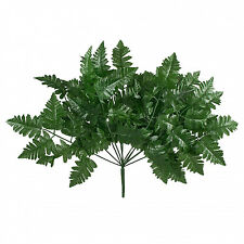 12 Leather FERN Stems Fronds ~ Filler Greenery Silk Wedding Flowers Centerpieces
