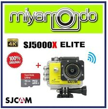 SJCAM Original SJ5000X Elite 4K WiFi Action Camera (Yellow) + microSD 16GB
