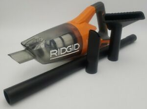 RIDGID R860902B 18-Volt Cordless Hand Vacuum w/ Three Nozzle Attachments