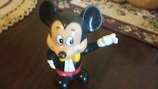 "Old Vintage Original Mickey Mouse Bank 5 1/2"" Tall Korea 1960/70s"