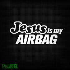 Jesus is my airbag amusant voiture fenêtre pare-chocs jdm vw vag euro vinyl decal sticker
