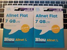 2 x blau Allnet L 0163 66 22 7X7 + 66 22 8X8 - Prepaid Partner SIM Karte o2 LTE