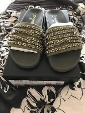 Chanel Chain Slides NIB 39 100% authentic Receipt Fits Like 8 38