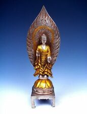 Tibetan Silver Plated Gold Gilt Copper Crafted Ghost Master Buddha #12131401