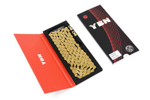 Gold YBN Bicycle Chain 10 Speed 116 links For Road Bike MTB bicycle Shimano Sram