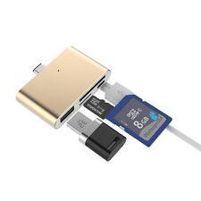 GOLD USB Type-C HUB PER MACBOOK con MicroSD / SD CARD READER USB TIPO A FEMMINA