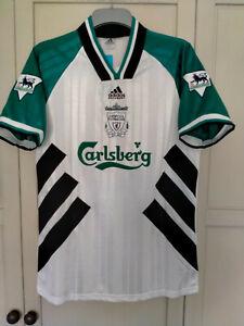 RUSH 9#  Liverpool shirt 1993 1994 1995 Away Football shirt white size XL
