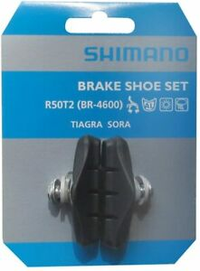 Shimano R50T2 Road Bike Brake Pad Blocks Tiagra Sora BR-4700 BR-4600 (1 Pair)