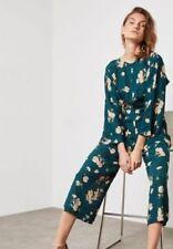 BNWT TOPSHOP Green Floral Dressy Jumpsuit UK 8